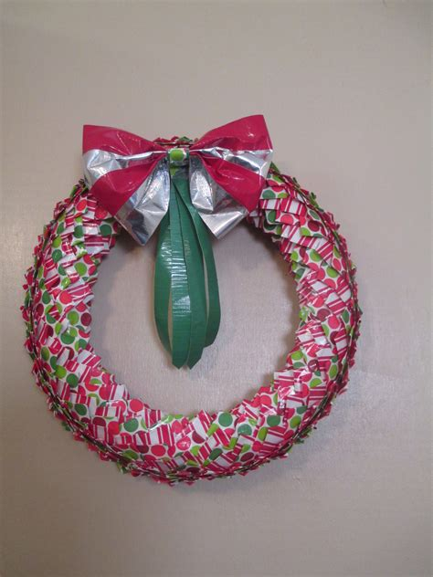 christmas duct tape wreath 183 a recycled wreath 183 other on