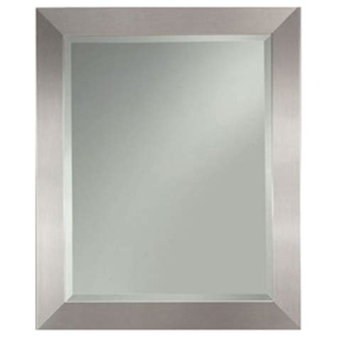 safety mirrors for bathrooms shop allen roth 2725 in x 3325 in silver leaf beveled