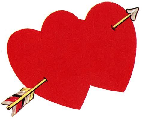 valentines day arrow retro image with arrow