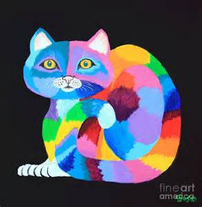 colorful cats pin by avas saloto on arc en ciel