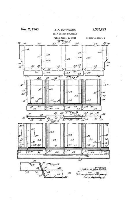 Sketches A Corrugated Bulkhead by Patent Us2333289 Ship Joiner Bulkhead Patentsuche