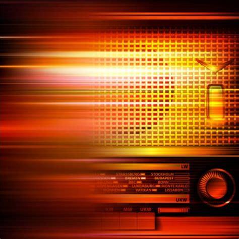 radio background abstract background with retro radio vector vector