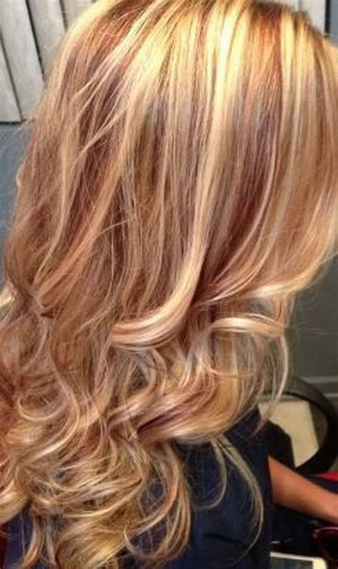 hairstyles red and blonde 25 hottest blonde hairstyles with red highlights 2017