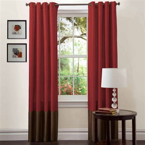 red curtains walmart prima red chocolate window curtains pair 54 quot x 84