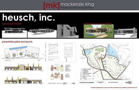 professional work samples mackenzie king archinect