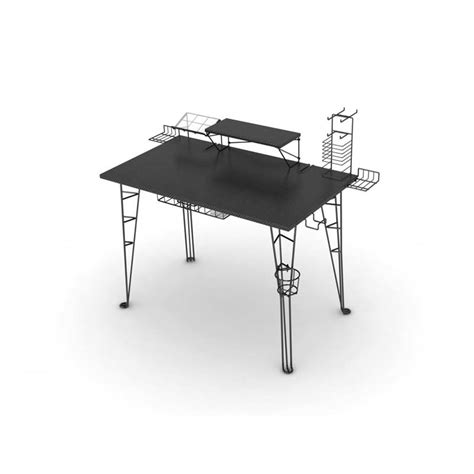 Black Gaming Desk Atlantic Gaming Center Desk Black 33935701
