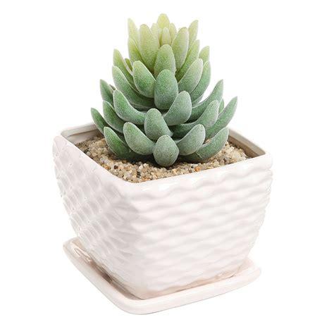white flower pots as nice indoor outdoor planter decor