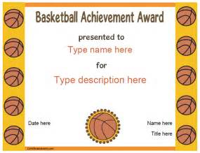 basketball c certificate template sports certificates basketball award certificatestreet