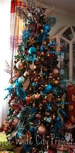 my turquoise copper and brown tree christmas indoor