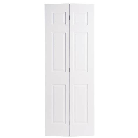 28 Inch Bifold Closet Door by Shop Reliabilt No Frame 6 Panel Hollow Textured