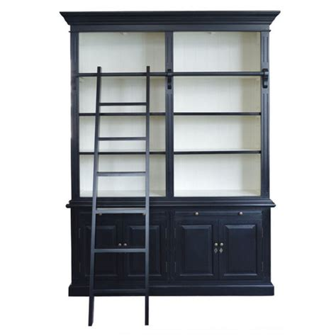 black library bookcase harrington 2 bay library bookcase black white maison living