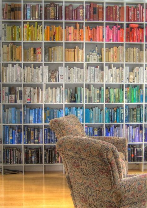 15 vibrant rainbow bookshelves that ll make you proud to