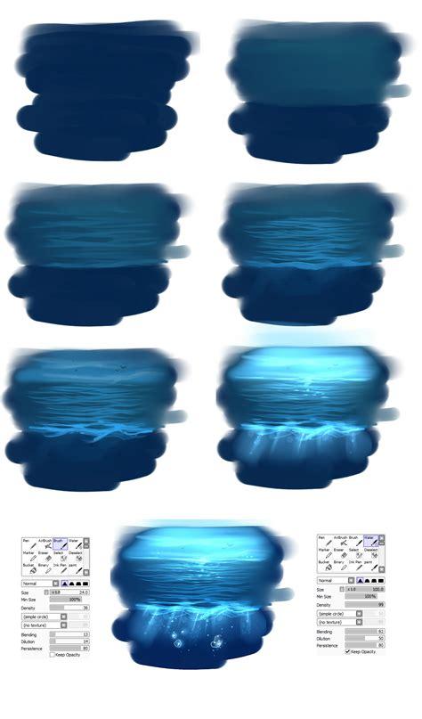 paint tool sai underwater tutorial easy water tutorial by ryky deviantart on deviantart