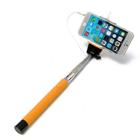 Monopod Iphone extendable wired remote shutter handheld selfie stick monopod for iphone ipod ebay