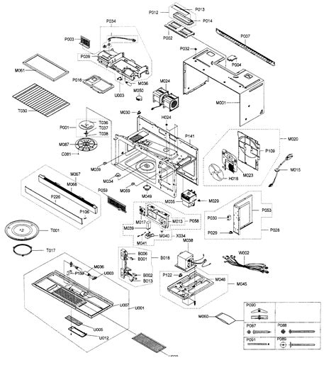samsung microwave parts diagram cabinet assy diagram parts list for model smh8165stxaa