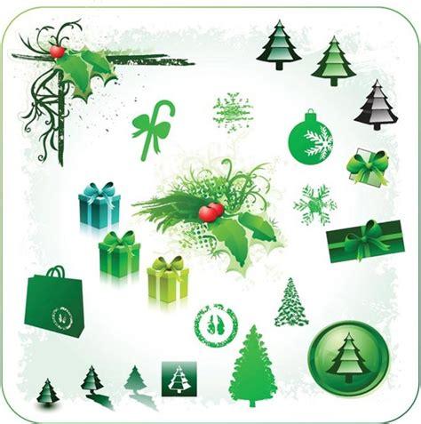 poster design elements vector vector beautiful green christmas poster design elements