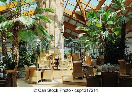 tropical restaurant indoor beautiful caffe restaurant