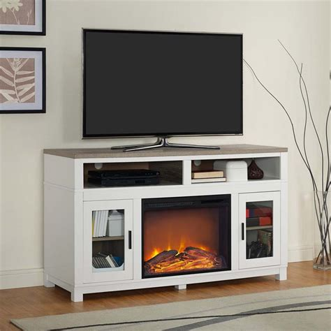 White Electric Fireplace Tv Stand Ameriwood Home Carver Electric Fireplace Tv Stand In White Ebay