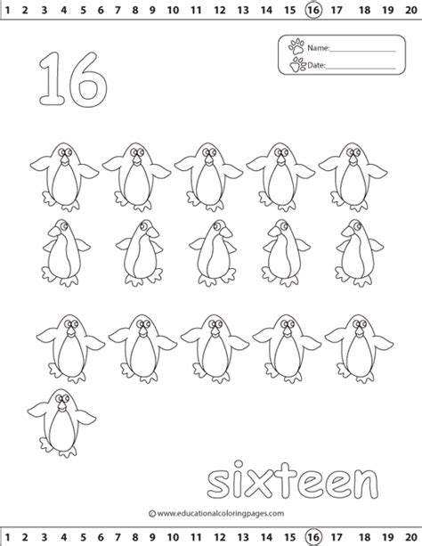 Printable Coloring Pages For Preschool Number 17 - counting 1 20 coloring pages