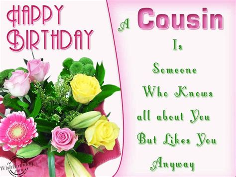 Happy Birthday To My Cousin Quotes Happy Birthday To My Cousin Wishes Quotes Photos