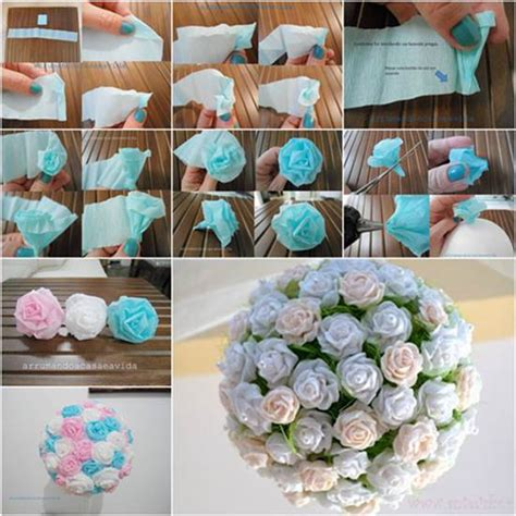How To Make Crepe Paper Balls - how to diy beautiful crepe paper flower