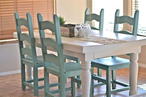painted dining room table and chairs dining room table makeover paddington way