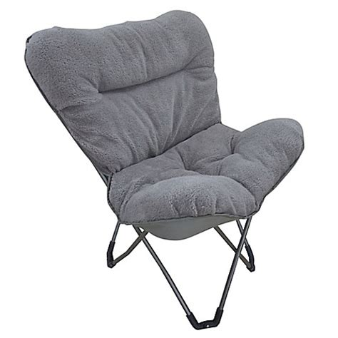 pink butterfly chair bed bath and beyond folding plush butterfly chair in grey bed bath beyond