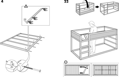ikea bed instructions download ikea kura reversible bed 38x75 quot assembly