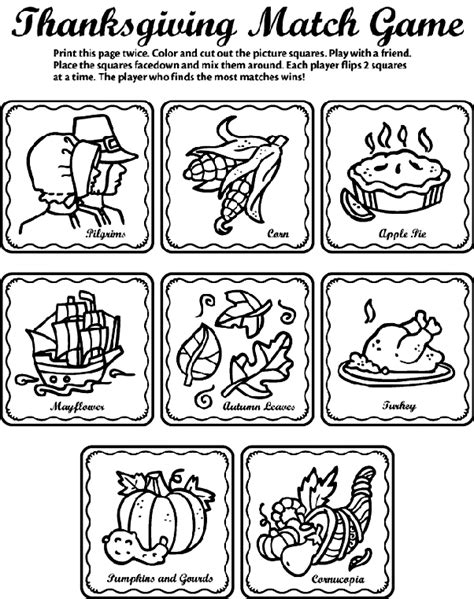crayola coloring pages thanksgiving thanksgiving matching game crayola ca