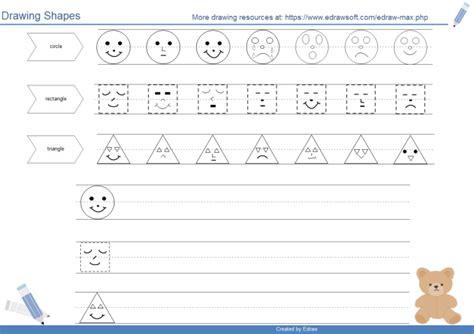 draw shapes free all worksheets 187 start worksheets printable