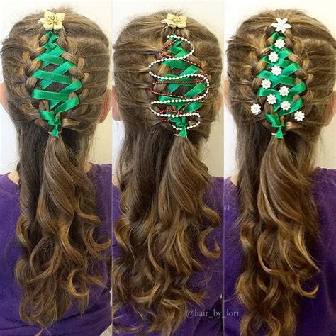 christmas themed hair ribbon christmas tree this is the old video click link