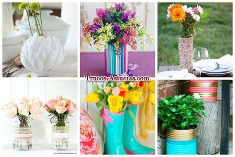 floreros y jarrones 28 centros de mesa floreros y macetas para hacer con