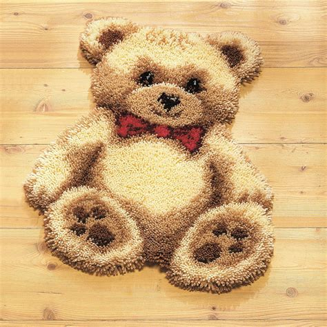 latch rug kits teddy latch hook rug kit stitchkits