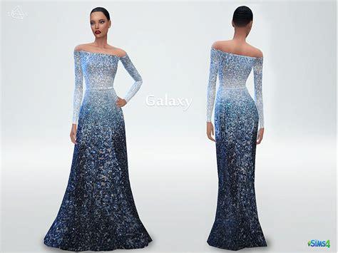 Longdress Cc slyd s sleeve fitted dress galaxy