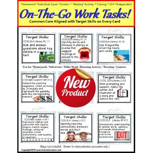 Target Gift Card Not Working - autism on the go work task cards with target skills and ccss aligned set 1