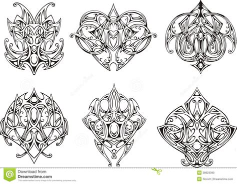 symmetrical tattoo designs symmetrical knot designs stock illustration image
