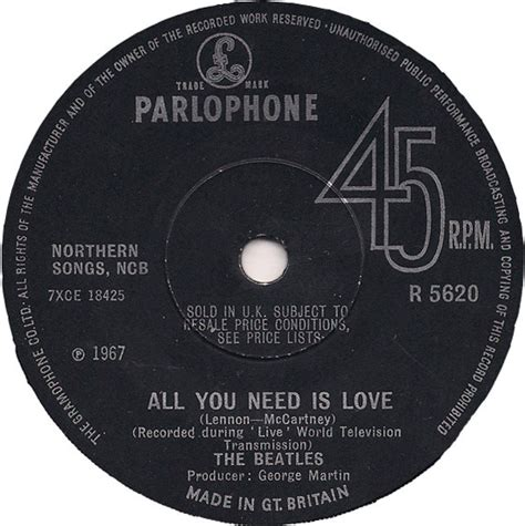Kaos The Beatles All You Need Is the beatles all you need is vinyl at discogs