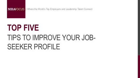 How To Improve Your Profile For Mba In India by Top 5 Tips To Improve Your Seeker Profile