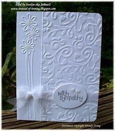 Su Flowering Fields With Darice Embossing Folder Condolence Card Pinterest Embossing Darice Bridal Templates