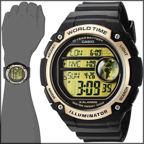Casio Ae 3000 W casio ae 3000w 9av black gold sports 48 city time 100m 10 ye great watches