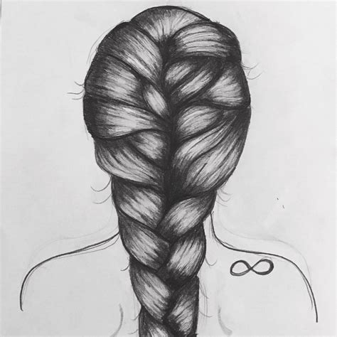 realistic plait hair styles one of my favorites braid art girl infinity drawing