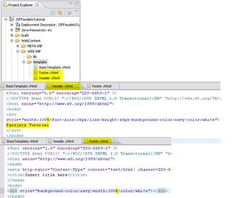 wtp tutorials jsf facelets tools tutorial