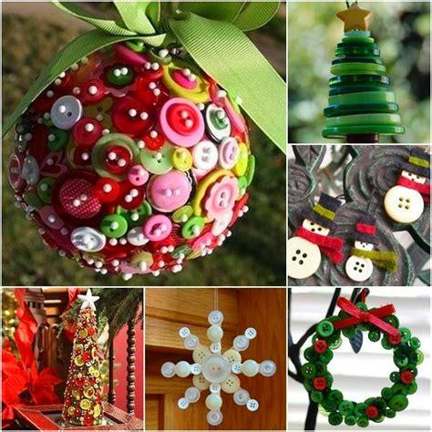 wonderful diy cute button christmas ornaments
