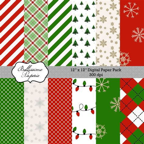 christmas themed paper christmas themed paper pack 1 scrapbook paper 12 quot x12
