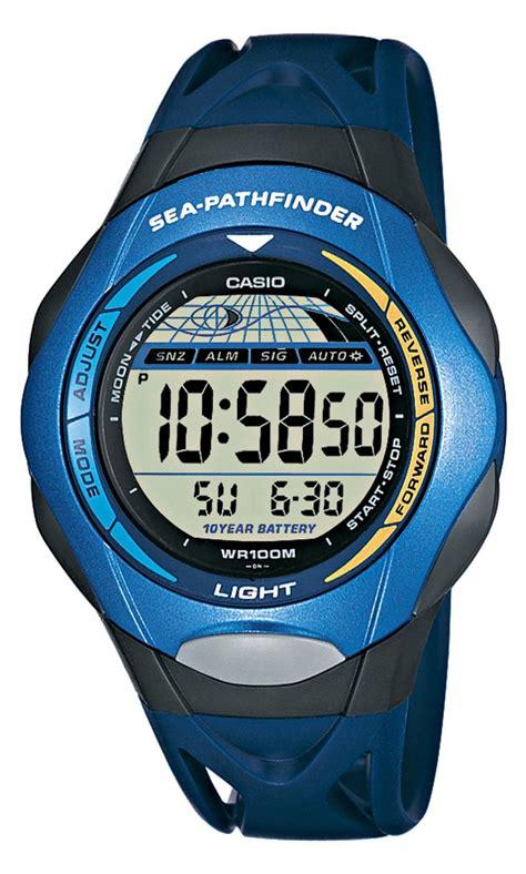casio sea pathfinder casio sea pathfinder yacht sailing timer blue digital
