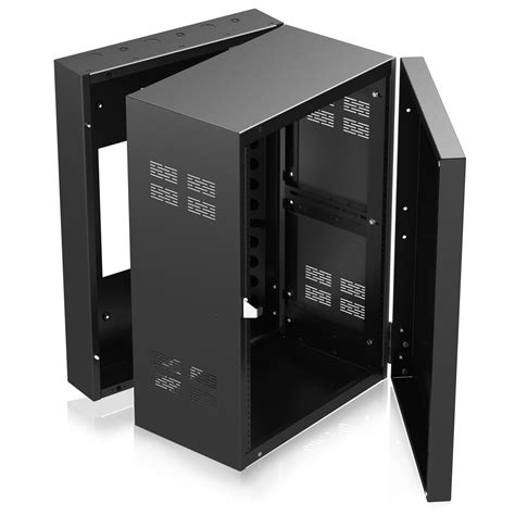 10 inch deep console cabinet stand alone wall rack with adjustable rails 12 quot deep 16ru