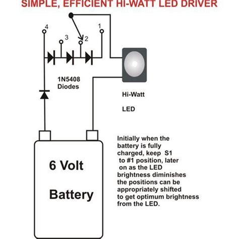 5 watt led driver circuit diagram simplest efficient 1 watt led driver circuit electronic