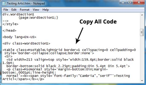 how to a table in html code how to easily create tables in microsoft