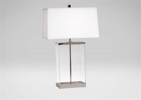 French Country Livingroom rectangular glass table lamp table lamps