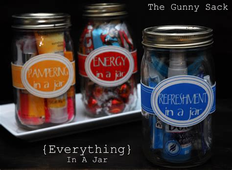everything in a jar handmade gifts the gunny sack